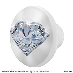 Diamond Knobs and Pulls in YOUR COLORS or Your Image. CLICK: https://www.zazzle.com/z/yt9wl?rf=238147997806552929 Diamond  Cabinet Knobs, Diamond Dressers Knobs and more. You, or Zazzle Designer Linda to make the Color and Design CHANGES for you at no extra cost. More personalized home decor by Little Linda Pinda Designs HERE: http://www.Zazzle.com/LittleLindaPinda  239-949-9090