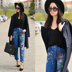Get this look: http://lb.nu/look/8651285  More looks by Paris Sue: http://lb.nu/jadorefashionn  Items in this look:  Zaful Floral Pants, Prada Sunnies, Michael Kors Bag   #casual #chic #street
