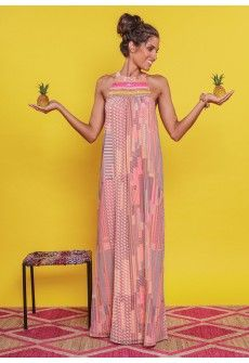 Maria Dress - Nimo With Love multicolour maxi dress with embroidery