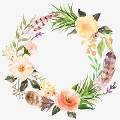 Watercolor aesthetic style floral wreath, Beautifully Garland, Flower Garlands, Garlands PNG Image and Clipart Watercolor Fox, Floral Wreath Watercolor, Watercolor Flowers, Painting Flowers, Tattoo Watercolor, Flower Frame, Flower Art, Logo Fleur, Theme Nature