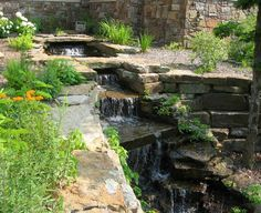 Waterfall and stream.....