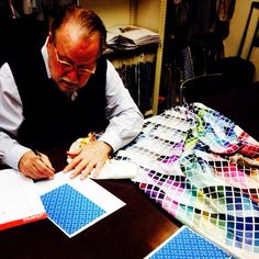 Coloring our new designs! #ss15 #design #nyc #ties #bowties #menswear #fashion #style #staytuned
