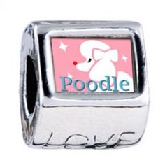 Poodle Photo European Charms  Fit pandora,trollbeads,chamilia,biagi and any customized bracelet/necklaces. #Jewelry #Fashion #Silver# handcraft #DIY #Accessory