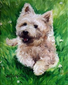 cairn terrier dogs paintings by mary sparrow smith from hanging the moon,