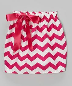 This Hot Pink & White Zigzag Skirt - Infant, Toddler & Girls is perfect! #zulilyfinds