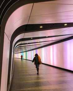 Colorful tunnel in King's Cross, London