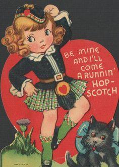 retro Scottish Valentine