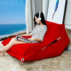 Bean bag folding chair simple, modern and double waterproof cloth Oxford lazy. It is also a bed-tatami. From Hangzhou, CHINA. Bedroom Chair, Sofa Chair, Sofa Bed, Outdoor Lounge, Bean Bag Living Room, Tatami Bed, Brown Leather Recliner Chair, Bean Bag Sofa, Blue Dining Room Chairs
