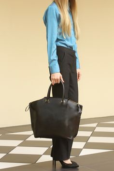 Mia leather tote bag # tatyZ # F/W 14/15 #office look