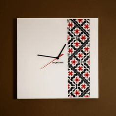 Clocks designed by project.ZULU, inspired from the traditional embroidery from Bucovina - Romania Traditional Art, Romania, Embroidery Stitches, Folk, Ceramics, Cool Stuff, Artist, Projects, Inspiration