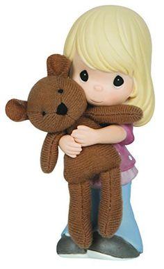 Precious Moments Girl Hugging Bear Figurine
