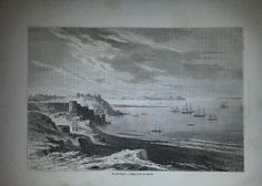 Antique French Engraving View of Tanger Marocco by reveriefrance, $15.00
