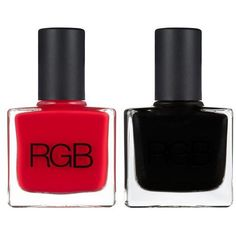 RGB Black & Too Red Set ($36) ❤ liked on Polyvore featuring beauty products, nail care, nail polish, nails, makeup, beauty, esmalte, rgb nail color, black red nail polish and black nail polish