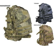 MANDRAKE HIGHLANDER TYPHON MOLLE Military Tactical Backpack Bag 3D EDC Kryptek