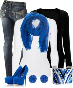 """Black and Blue"" by cindycook10 on Polyvore"