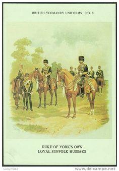 British; Duke of York's Own Loyal Suffolk Hussars by R.Simkin