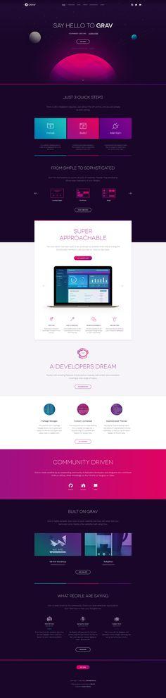 Grav - by Eduardo Santos | #ui #webdesign