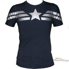 Men T- Shirt Captain America Super Soldier Uniform Winter Soldier Avenger Union #OWN #PersonalizedTee