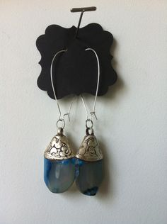Tibetian earrings  Beautiful Agate earrings   lisaerbacher.com  Also available at Bungalow home