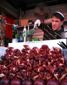 Pomegranate Juice Stand   Shuk Ah Carmel, Tel Aviv