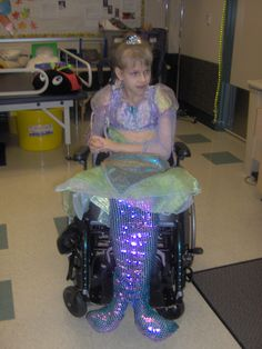 Wheelchair Halloween Costume I made for  my girly