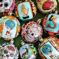 This year I wanted to make something special for my family for Christmas instead of the usual book, rare vodka or beer subscription. I went with handmade, Mexican ornaments for their trees. Mexican Christmas Decorations, Christmas Arts And Crafts, Christmas Ornament Crafts, Homemade Ornaments, Homemade Christmas, Christmas Diy, Simple Christmas, Ornaments Making, Dough Ornaments