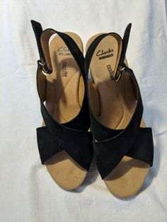 592a33ad8b0 Clarks Artisan Black Ultra Suede Womens Sandals Size 9.5  fashion  clothing   shoes  accessories  womensshoes  sandals (ebay link)
