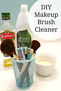Diy Make Up Brush Cleaner I Used 1 Cup Water 1 2 Isopropal