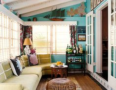 love everything about this sun room!