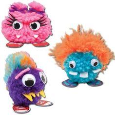 Super easy, ultra cute pom-pom monsters!