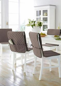 Dinning Chair Covers, Kitchen Chair Covers, Dinning Chairs, Sofa Covers, Slipcovers For Chairs, Cushions On Sofa, Dining Room Shelves, Wall Hanging Crafts, Apartment Interior Design