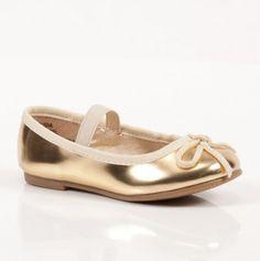 flower girl gold ballet flats only $10