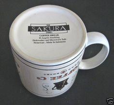Sakura Coffee Mug Coffee Break Coffee Co Dark Roast Angela Stachling | eBay