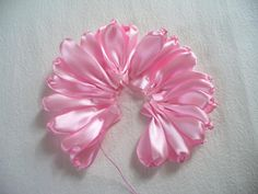 Accessories a simple dress or shirtwith this lovely ribbon flower brooch and make your outfit stylish. You can complete this project in 10 minutes.  Materials ribbon scissors needle thread broochpin