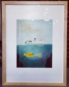 The Life Aquatic with Steve Zissou. Custom framed by FastFrame of LoDo. #art #pictureframing #customframing #denver #colorado