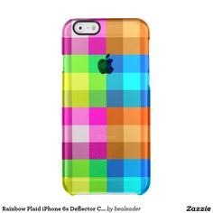 Rainbow Plaid iPhone 6s Deflector Case Uncommon Clearly™ Deflector iPhone 6 Case