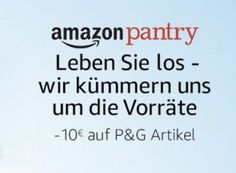 Amazon: 10 Euro Pantry-Rabatt auf Artikel von Procter & Gamble https://www.discountfan.de/artikel/technik_und_haushalt/amazon-10-euro-pantry-rabatt-auf-artikel-von-procter-gamble.php Zahlreiche Top-Marken wie Lenor, Gillette, Pampers und Swiffer sind jetzt bei Amazon zehn Euro günstiger zu haben – möglich macht dies ein Pantry-Rabatt, der automatisch gewährt wird. Die Aktion gibt es nur für Nutzer von Amazon Prime. Amazon: 10 Euro Pantry-Rabatt auf Artikel von Pro