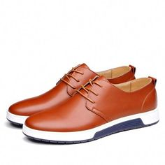 65f32c6cbf57ee Mens Casual Daily Lace up Leather Shoes  MensFashionSneakers Latest Mens  Fashion