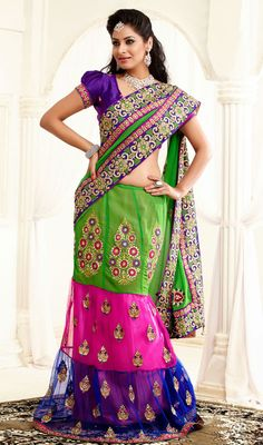Lehenga Style Sarees Online Shopping on Pinterest ...