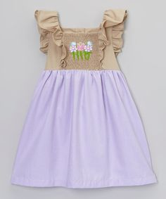 Look at this Purple Flower Smocked Dress - Infant, Toddler & Girls on #zulily today!