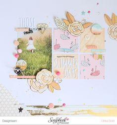 """Layout """"Those Summer Days"""" - Scrapbook Werkstatt Oktober Sketch mit dem Oktober Kit """"Wanderlust"""" - von Ulrike Dold"""