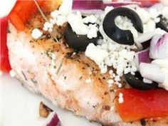 Baked Salmon with Tomato and Feta | wildforsalmon.com