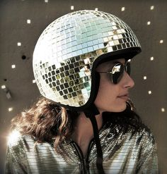 Disco Ball Helmet http://www.handimania.com/diy/disco-ball-helmet.html