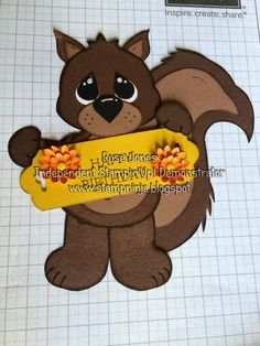 Adorable Squirrel paper piecing