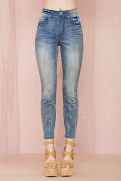 Nasty Gal Denim - The Distressed Out in Painted Love   Shop Denim at Nasty Gal These are awesome!
