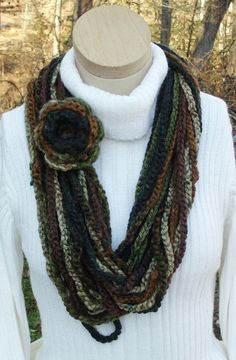 Scarf Crochet Chain Large Long Circle by RoseCottageCrochet, $25.00