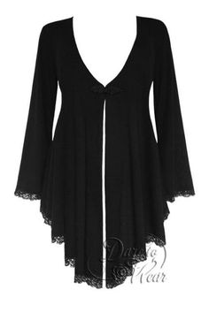 Plus Size Embrace Corset Sweater Duster Jacket in Black Magic [FC42BM] - $59.99 : Mystic Crypt, the most unique, hard to find items at ghoulishly great prices!
