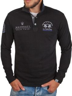 La Martina ® Sweatshirt zwart, Maserati