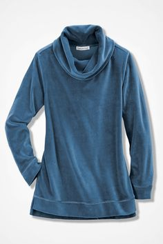 Velour du Jour Tunic, Teal
