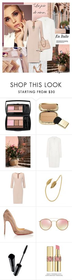 """La joie de vivre en Italie"" by lovemeforthelife-myriam ❤ liked on Polyvore featuring Lancôme, Dolce&Gabbana, WALL, Iris & Ink, Joseph, Christian Louboutin, Chanel, Ray-Ban, Shiseido and Yves Saint Laurent"